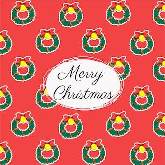 Seamless con decorazioni natalizie