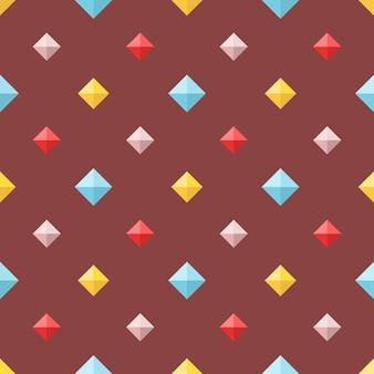 Modello senza cuciture con diamanti piatti colorati