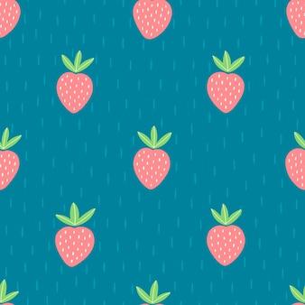 Modello senza cuciture con frutti colorati per il design tessile. sfondo estivo in colori vivaci. illustrazione vettoriale alla moda disegnata a mano.