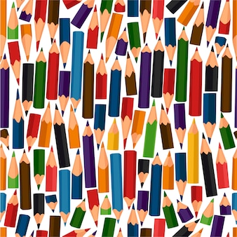 Modello senza cuciture con matite colorate