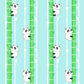 Modello senza saldatura con simpatico piccolo panda
