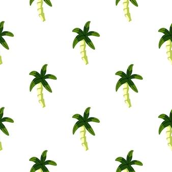 Modello senza cuciture con stampa di sagome di palme geometriche doodle. progettato per il design del tessuto, la stampa tessile, il confezionamento, la copertura. illustrazione vettoriale.