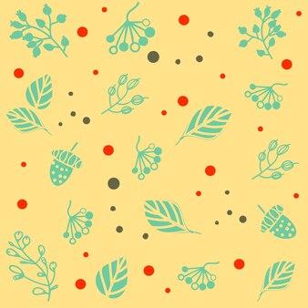 Modello senza cuciture con disegni floreali. illustrazione vettoriale