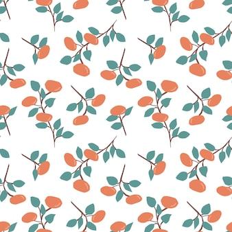 Modello senza cuciture con mandarini freschi sfondo luminoso colorato stampa di agrumi