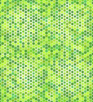 Modello senza cuciture con esagoni verdi