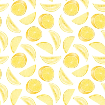 Modello senza cuciture con limoni disegnati a mano