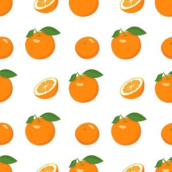 Modello senza cuciture con arance e fette