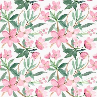 Modello senza saldatura con fiore rosa