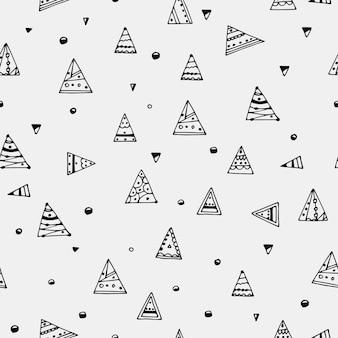 Modello senza cuciture con triangoli. illustrazione vettoriale