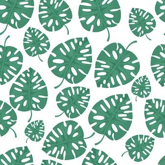 Modello senza cuciture con foglie tropicali