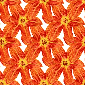 Seamless pattern con fiori di giglio di acquerello. sfondo di gigli per carta da parati, tessile, tessuto o confezione