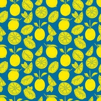 Modello senza cuciture con limoni gialli