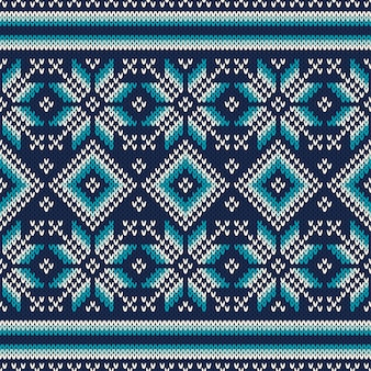 Modello senza cuciture sulla trama lavorata a maglia di lana