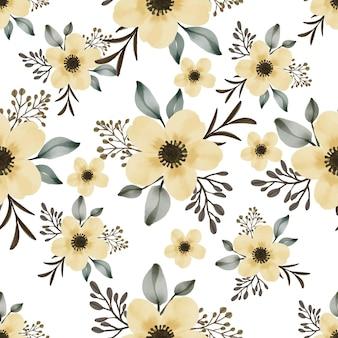 Seamless di bouquet di fiori gialli