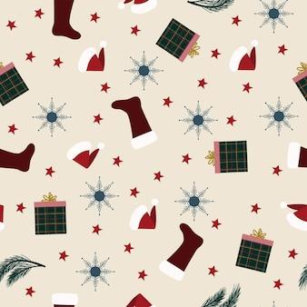 Modello senza cucituredecorazione di natale sfondo decorazioni festive capodanno fiocco di neve