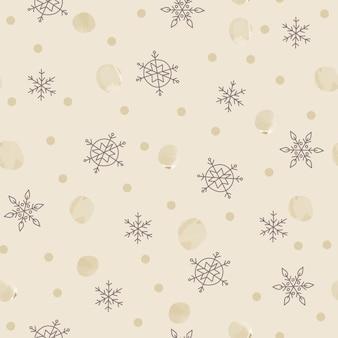Modello senza cucituredecorazione di natale sfondo bianco fiocchi di neve stelle decorazioni festive capodanno