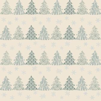 Modello senza cucituredecorazione dell'albero di natale sfondo bianco fiocchi di neve decorazioni festive capodanno