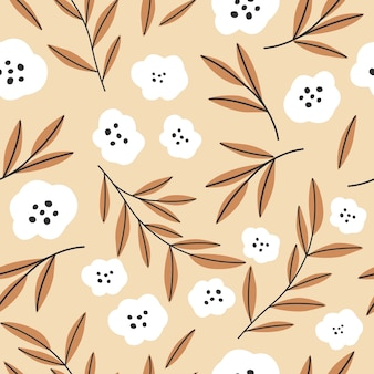 Modelli senza cuciture in stile floreale. illustrazione vettoriale