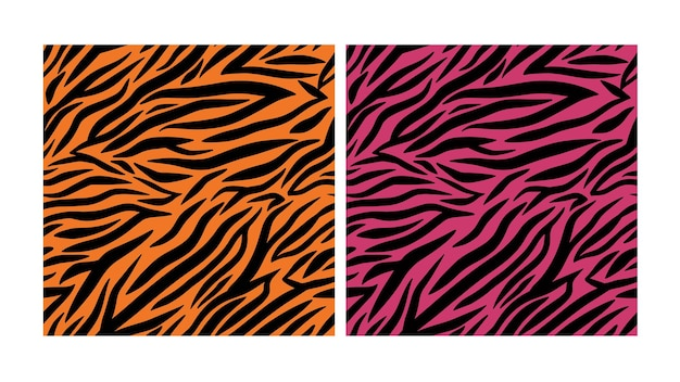 Texture di pelle di tigre rosa e arancione senza soluzione di continuità