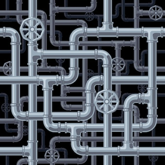 Sfondo di tubi senza soluzione di continuità. organizzato da strati. colori globali. gradienti gratuiti. tubi e connettori sono separati in gruppi.