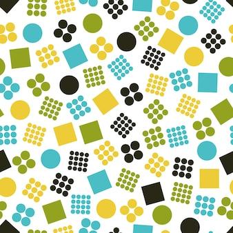 Motivi geometrici primitivi senza soluzione di continuità per tessuti e cartoline. elementi geometrici alla moda. fondo moderno di colore dei pantaloni a vita bassa. illustrazione vettoriale