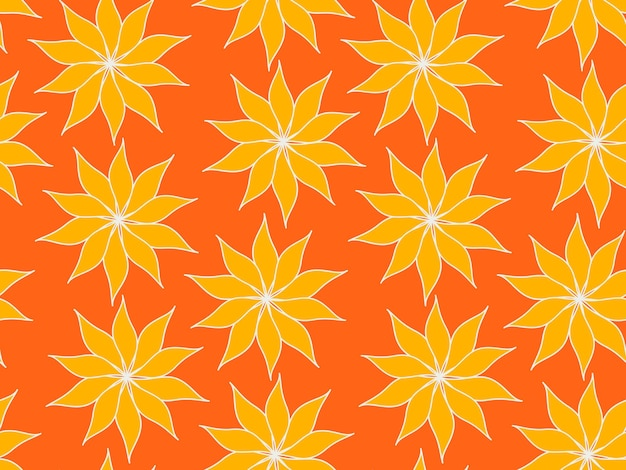 Motivo ripetuto senza soluzione di continuità di fiori e piante. bellissimo giardino decorativo di fiori di campo. foglie botaniche e motivi floreali per il design. carta da parati moderna minimalista astratta. sfondo vettoriale.
