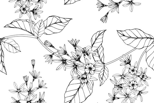 Fondo senza cuciture del modello di fiore della vite della carta vetrata.