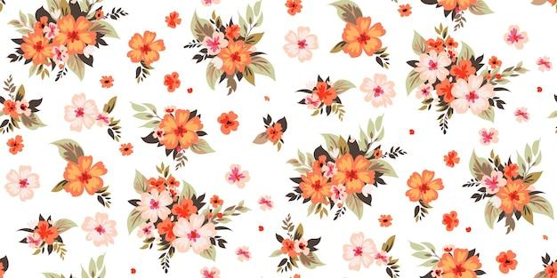 Motivo floreale primaverile senza cuciture per tessuti