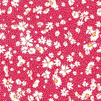 Motivo floreale primaverile senza cuciture con margherite