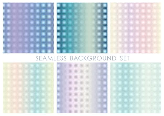 Set di sfondo quadrato senza soluzione di continuità ripetibile orizzontalmente e verticalmente.