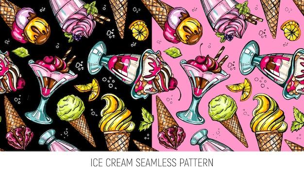 Motivo estivo senza cuciture con gelato