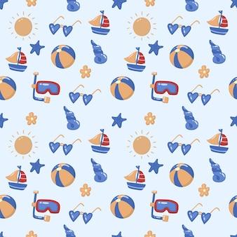 Seamless pattern estivo