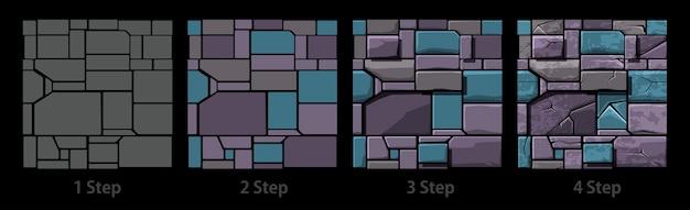 Seamless texture della vecchia pietra geometrica, piastrelle di muro di pietra di sfondo.