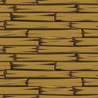 Plance di legno di struttura senza giunte, vecchio pavimento marrone.