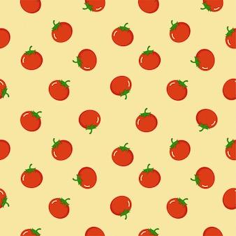 Modello senza cuciture dell'icona del pomodoro, fondo del modello del pomodoro