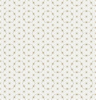 Ornamento giapponese tradizionale senza soluzione di continuità kumiko linee di colore dorate.