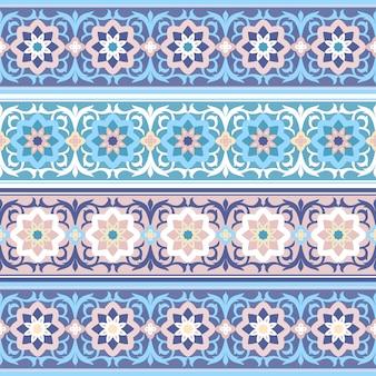 Ornamento floreale musulmano tradizionale senza cuciture