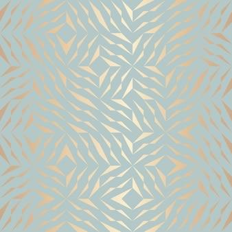 Modello di elemento dorato geometrico di vettore senza soluzione di continuità. struttura di rame del fondo astratto su verde blu. stampa grafica semplice e minimalista. moderna griglia a traliccio turchese. geometria sacra hipster alla moda.