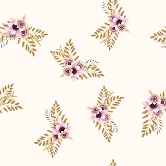 Carta da parati floreale con mazzi floreali senza cuciture