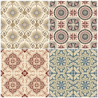 Seamless vintage background collection victorian tile