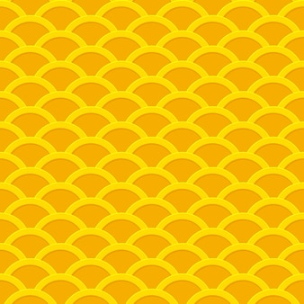 Seamless pattern ondulato da monete d'oro.