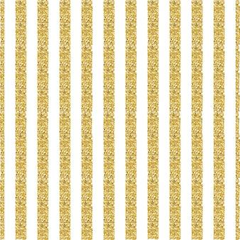 Sfondo senza soluzione di pattern di striscia bianca e oro glitter