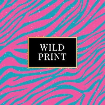 Stampa selvaggia modello zebra senza soluzione di continuità