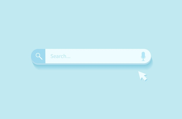 Elemento di design della barra di ricerca. barra di ricerca per sito web e interfaccia utente, app mobili.