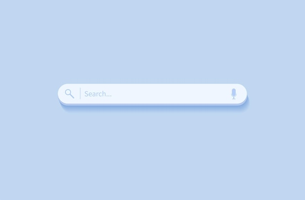 Barra di ricerca elemento di design barra di ricerca per siti web e app mobili dell'interfaccia utente