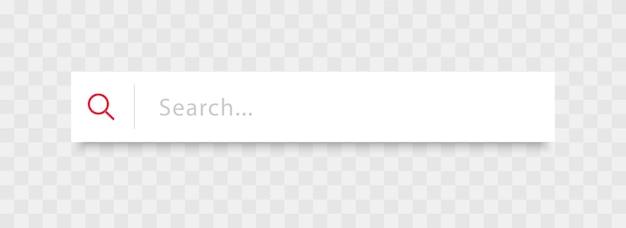 Barra di ricerca per interfaccia utente e sito web design elemento vettoriale casella di ricerca