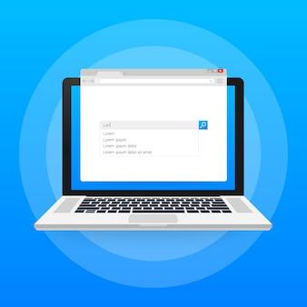 Barra di ricerca design elemento vettoriale. set di caselle della barra di ricerca. modello di interfaccia dell'interfaccia utente.