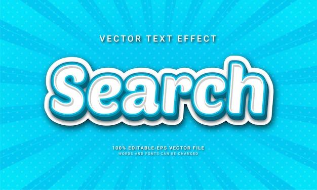 Cerca effetti di testo modificabili con tema di colore blu