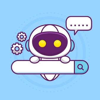 Ottimizzazione dei motori di ricerca con simpatico robot