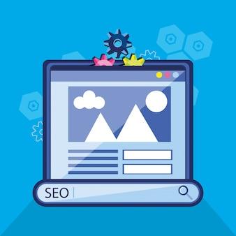 Ottimizzazione dei motori di ricerca con la pagina web del modello